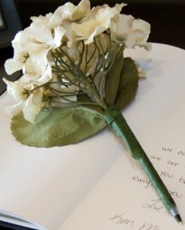 Let us create custom pens for your guest book!